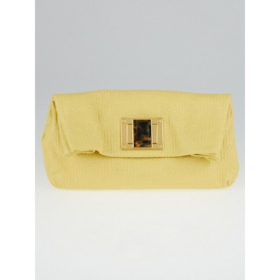 Louis Vuitton Limited Edition Yellow Monogram Leather Altair Clutch Bag