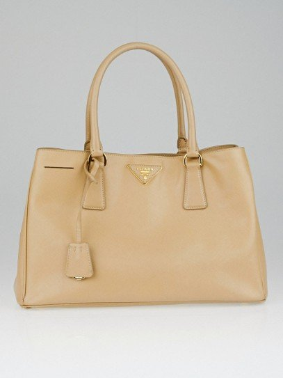 Prada Sabbia Saffiano Lux Leather Small Tote Bag BN1874