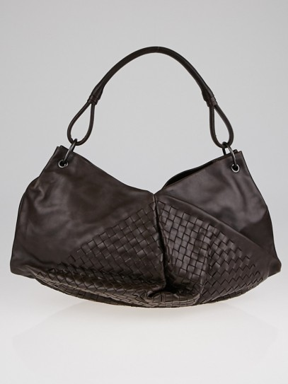 Bottega Veneta Ebano Intrecciato Nappa Leather Aquilone Fortune Cookie Hobo Bag