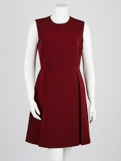 Gucci Burgundy Acetate/Polyester Dress Size 8/42