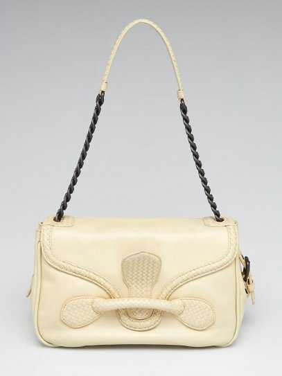 Bottega Veneta Light Yellow Intrecciato Nappa Leather Rialto Bag