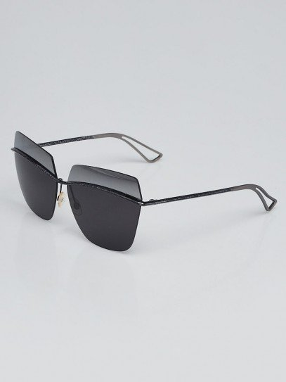 Christian Dior Black Metal Two-Tone Lens Metallic Sunglasses