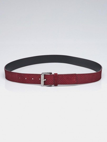 Louis Vuitton Bordeaux Damier Suede Drive Belt Size 100/40