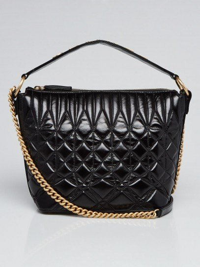 Chanel Black Quilted Calfskin Leather State of The Art Hobo Bag