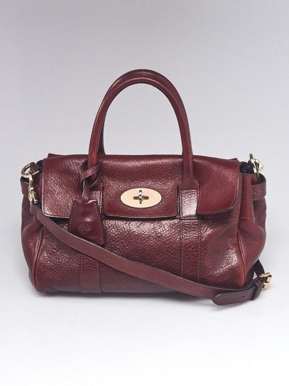 Mulberry Oxblood Leather Small Bayswater Bag