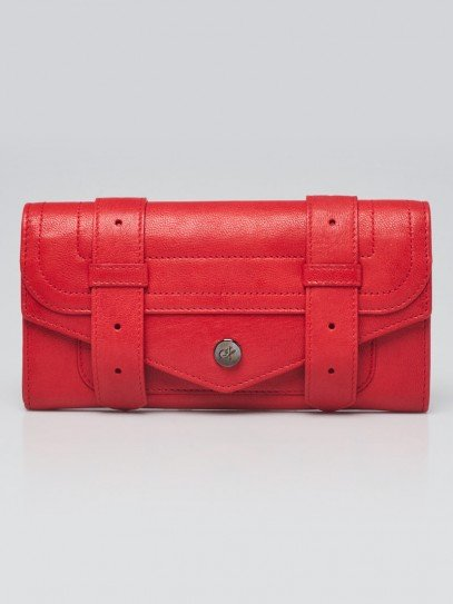 Proenza Schouler Bright Red Leather PS1 Continental Wallet
