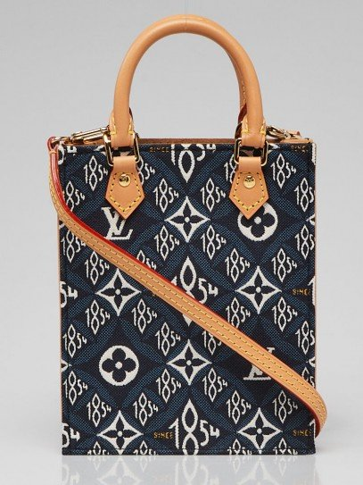 Louis Vuitton Blue Since 1854 Canvas Petit Sac Plat Bag