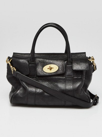 Mulberry Black Leather Small Bayswater Bag