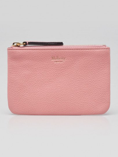 Mulberry Pink Leather Zip Coin Pouch Wallet