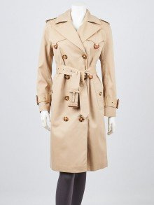 Burberry London Beige Cotton Trench Tunworth Coat Size M