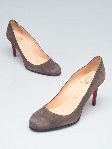 Christian Louboutin Elephant Grey Suede Simple 85 Pumps Size 6.5/37