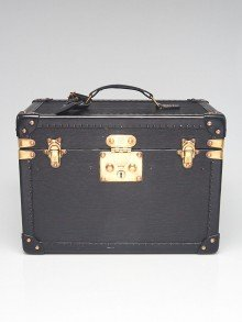 Louis Vuitton Black Epi Leather Hardsided Boite Pharmacie Train Case