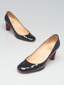 Christian Louboutin Black Patent Leather Miss Tick 70 Pumps Size 6/36.5