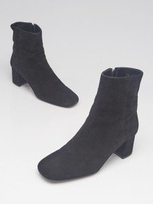 Prada Black Suede Ankle Boots Size 4.5/35