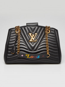 Louis Vuitton Black Quilted Calfskin Leather New Wave Chain Tote Bag