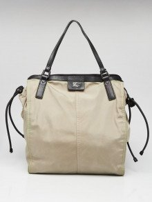 Burberry Beige Nylon Packable Tote Bag