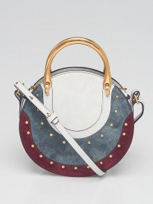 Chloe Blue/Purple Suede/Leather Small Pixie Bag