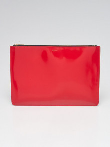 Celine Red Leather Clutch Pouch Bag