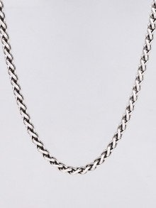 """David Yurman Sterling Silver and 14k Gold Wheat Chain 18"""" Necklace"""